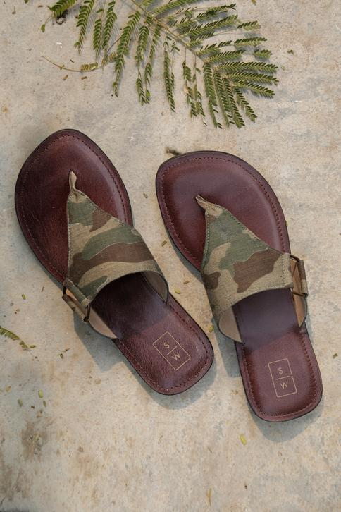 Handmade Recycled Ted Sandals