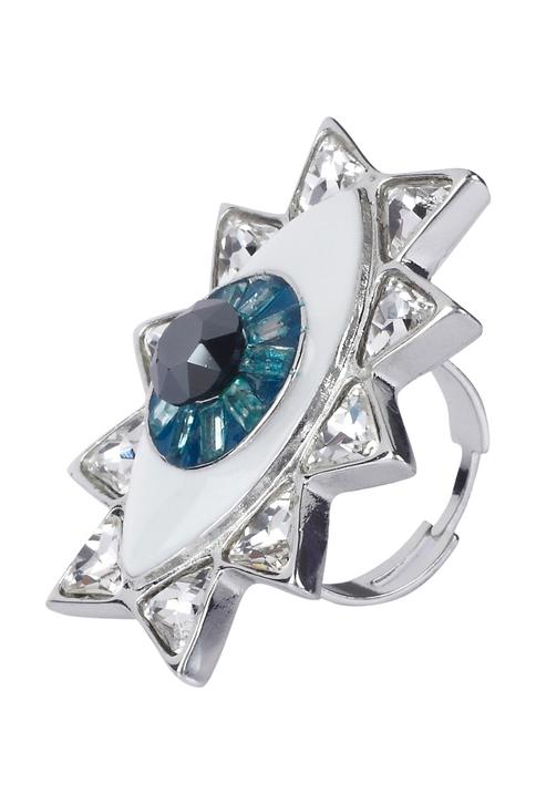 Evil eye statement ring