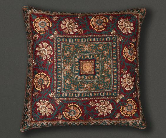 Floral Square Cushion Cover with Filler (Set of 2)