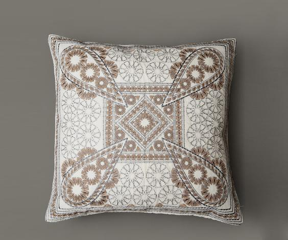 Embroidered Cushion Cover with Filler (Set of 2)