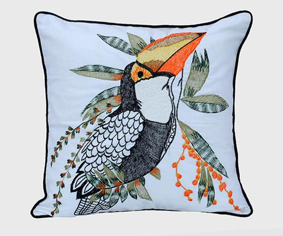 Toucan Glory Square Cushion Cover with Filler