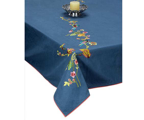 Embroidered Table Cloth (Fits 6-8 Seater Table)