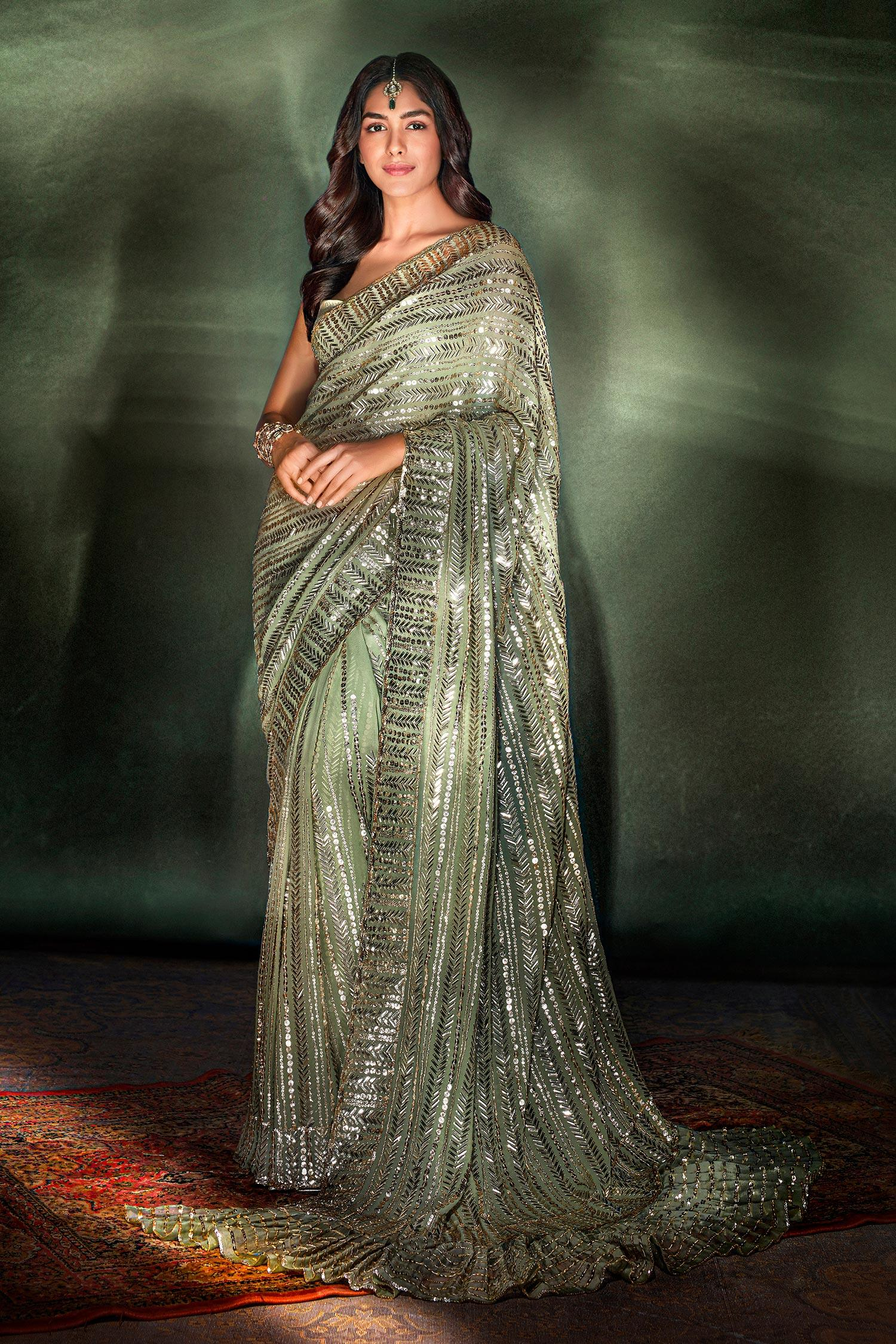Buy Embroidered Saree with Blouse by Manish Malhotra at Aza Fashions